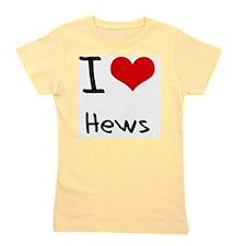 I Love Hews Girl's Tee