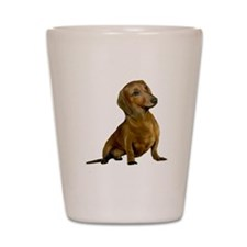 Brown / Red Dachshund Shot Glass