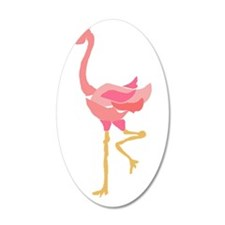 Funky Pink Flamingo Art Wall Decal