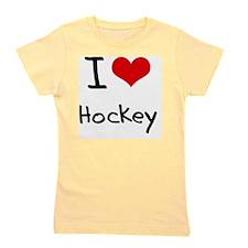 I Love Hockey Girl's Tee