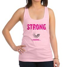 STRONG LOADING - ELECTRIC PINK Racerback Tank Top