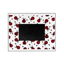 Cute Red Ladybug and Hearts Print Picture Frame