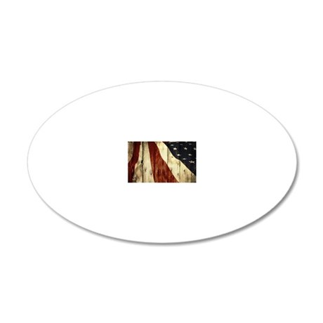 Bleeding Red, White, and Blu 20x12 Oval Wall Decal