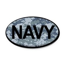 US Navy Camo Oval Sticker Oval Car Magnet