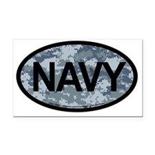 US Navy Camo Oval Sticker Rectangle Car Magnet