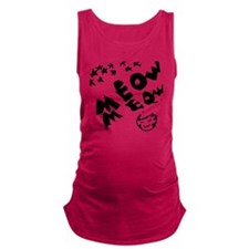meow meow in the stars Maternity Tank Top