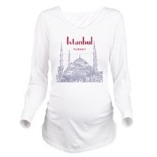 Istanbul_10x10_BlueM Long Sleeve Maternity T-Shirt