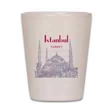 Istanbul_10x10_BlueMosque_Red Shot Glass