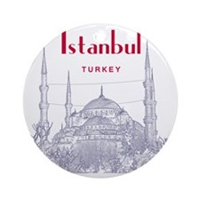 Istanbul_10x10_BlueMosque_Red Round Ornament