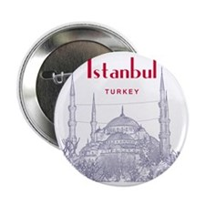 "Istanbul_10x10_BlueMosque_Red 2.25"" Button"