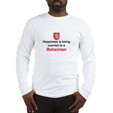 Happily Married To A Bohemian Long Sleeve T-Shirt