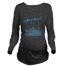Istanbul_12X12_BlueM Long Sleeve Maternity T-Shirt