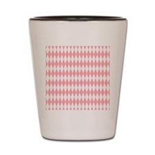 Pastel Pink Argyle Shot Glass