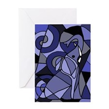 Elephant Abstract Art Greeting Card