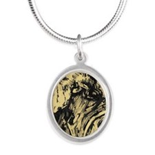 the philosopher Silver Oval Necklace