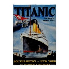 Vintage Titanic Travel 5'x7'Area Rug