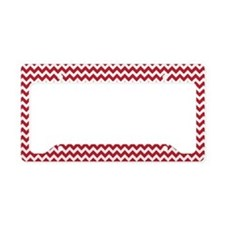 Chevron Red License Plate Holder