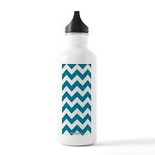 Chevron Teal Water Bottle