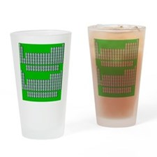 Deluxe Periodic Table (green) Drinking Glass