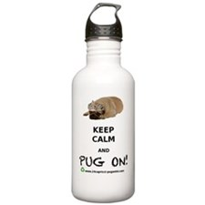 KEEP CALM  PUG ON BIGG Sports Water Bottle
