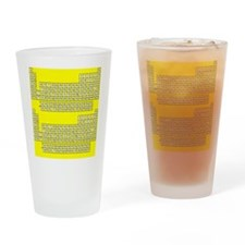 Deluxe Periodic Table (yellow) Drinking Glass