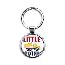 Little Brother Dump Truck Round Keychain