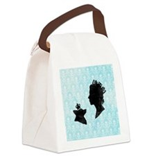 Queen and Corgi Canvas Lunch Bag