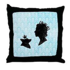Queen and Corgi Throw Pillow