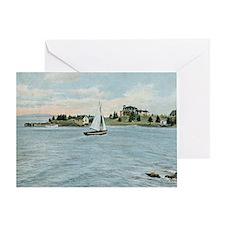 1912 Sailing, Owls Head, Maine Vinta Greeting Card