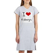 I Love Kidneys Women's Nightshirt