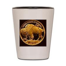 American Buffalo Gold Bullion 50 Dollar Shot Glass