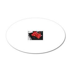 Red Shoe Still Life - Digita 20x12 Oval Wall Decal