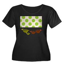 Retro Bi Women's Plus Size Dark Scoop Neck T-Shirt