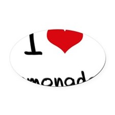 I Love Lemonade Oval Car Magnet