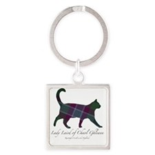 Lady Laird of Chaol Ghleann Cat Square Keychain