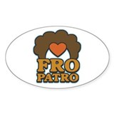 Fro Patro with Heart Oval Decal