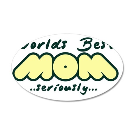 Worlds Best Mom 35x21 Oval Wall Decal