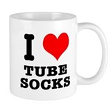 I Heart (Love) Tube Socks Mug