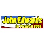 John Edwards for President Patriotic Sticker