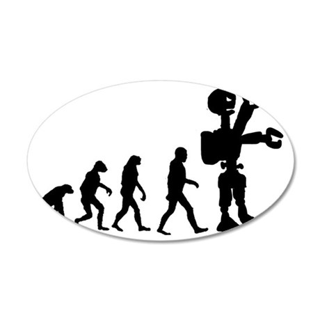 Robot Evolution 201-3 35x21 Oval Wall Decal