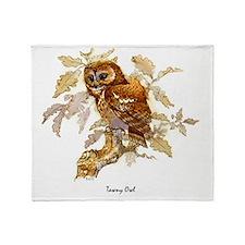 Tawny Owl Peter Bere Design Throw Blanket