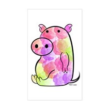 ROSEY PIG Rectangle Decal