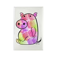 ROSEY PIG Rectangle Magnet (10 pack)