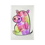 ROSEY PIG Rectangle Magnet