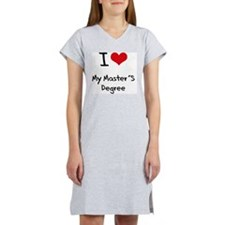 I Love My Master'S Degree Women's Nightshirt