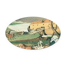 Noahs Ark Oval Car Magnet