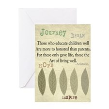 Retired Teacher quote Aristotle Blan Greeting Card