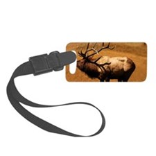 Big Wild Elk Small Luggage Tag