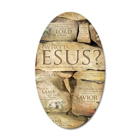 Names of Jesus Christ 35x21 Oval Wall Decal