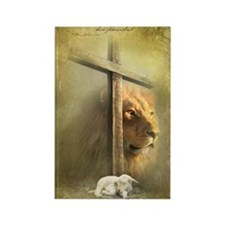 Lion of Judah, Lamb of God Rectangle Magnet